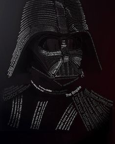Star Wars Typography: Darth Vader Created With His Quotes, wish i had found this before matt's birthday, it would go perfect on their wall next to the bubbafat :)