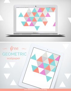 Free geometric wallpaper for desktop, tablet and phone
