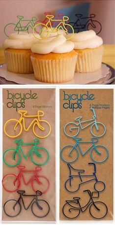 BIKE CLIPS (Happy Bicycle Store) Wonderful use in party cakes with the bicycle theme cake Camping gift ideas [for roadtrip lovers and outdoor freaks] Bicycle Birthday Parties, Bicycle Party, Bicycle Cake, Bike Cakes, Bicycle Wedding, Retirement Parties, Birthday Party Themes, Bicycle Store, Baby Bike