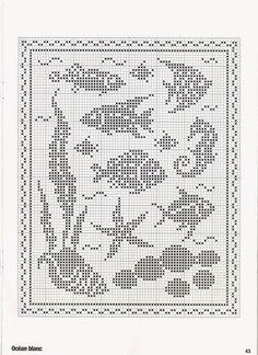 Kira scheme crochet: Scheme crochet no. Cross Stitch Sea, Cross Stitch Animals, Cross Stitch Charts, Cross Stitch Designs, Cross Stitch Patterns, Filet Crochet Charts, Knitting Charts, Crochet Stitches, Crochet Patterns
