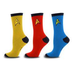 Star Trek Uniform Socks - Set of 3. DOPE!!