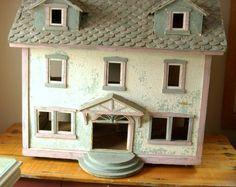 Antique Primitive Folk Art Handmade Dollhouse 1800s Shabby Chic Arts and Crafts | eBay