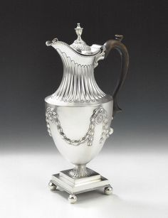 OnlineGalleries.com - A very rare & unusual George III Ewer made in London in 1774 by John Robins.  The design originally attributed to the Royal Architect, Sir William Chambers