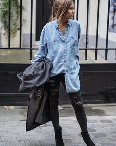 C A M I L L E - B L O G G E R в Instagram: «Last #out on my blog noholita.fr  #DENIM #shirt»