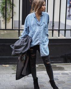 C A M I L L E - B L O G G E R в Instagram: «Last #out on my blog noholita.fr  #DENIM #shirt»