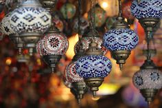 the Grand Bazaar, Istanbul, Turkey, 1001 lights, hanging lamps, mosaic, fine art photography, exotic places, Turkish home decor, wall art