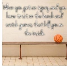 Happened to me last season,I hurt my knee really bad and so I couldn't run or play basketball for 2 weeks!!!! And that game i got hurt in we were winning 15 to 10 but then they beat us 18 to 35!!! It was the worst thing that has happened to me!!!