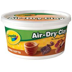 Find the Crayola® Air-Dry Terra Cotta Clay, at Michaels. This artistic modeling clay is smooth, fine, and less sticky. Crayola Modeling Clay, Crayola Air Dry Clay, Make Your Own Clay, How To Make Clay, Essential Oil Jewelry, Essential Oils, Clay Projects, Kid Projects, Clay Creations
