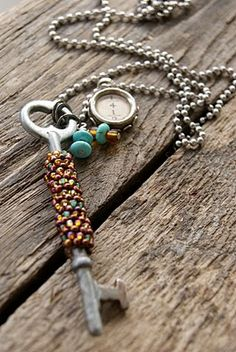 love the old key and the chain ...fun to make i bet