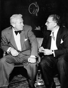 "George Cukor and Spencer Tracyon the set of ""The Actress"" (1953)."