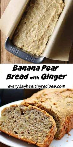 This dairy free, whole wheat banana pear bread with ginger is packed full of goodness and flavour.  Enjoy for breakfast/brunch or as a healthy snack anytime! #bananabread #healthysnacks #dairyfreesnacks #healthybananabread #everydayhealthyrecipes Healthy Everyday Meals, Healthy Meals For Kids, Easy Healthy Breakfast, Everyday Food, Pear Loaf Recipes, Banana Recipes, Bread Recipes, No Bake Snacks, Savory Snacks