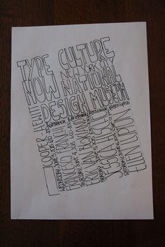 1. type culture now 2. national design museum 3. New York 4. chi 5.quando
