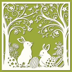 View top-quality illustrations of Easter Bunnies Papercut Art. Find premium, high-resolution illustrative art at Getty Images. Kirigami, Papercut Art, Chinese Paper Cutting, Vinyl Paper, Paper Artwork, Easter Holidays, Free Vector Art, Easter Bunny, Making Ideas