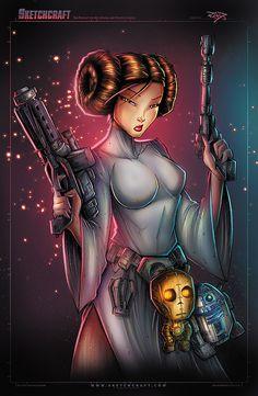 Star Wars : Leia by Rob Duenas