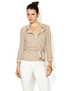 Vintage Multicolor Tweed Knit Sweater Jacket by Chanel