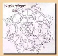 knit and crochet Crochet Snowflake Pattern, Crochet Snowflakes, Crochet Motif, Knit Crochet, Crochet Stitches, Doilies, Projects To Try, Photo And Video, Knitting
