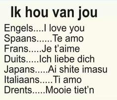 Ik hou van jou ...