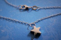 Chokers – Sterling silver star necklace gift jewellery – a unique product by MadamebutterflyMeagan on DaWanda
