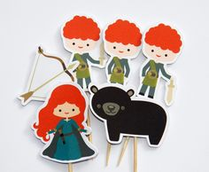 Brave Girl Party - Set of 12 Assorted Brave Girl Cupcake Toppers by The Birthday House. $6.00, via Etsy.