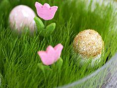 DIY Glitter Easter Eggs, Golden Easter Eggs, painted eggs
