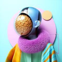 Humanoids Erupt into Colored Smoke in Dazzling CGI Portraits - Creators