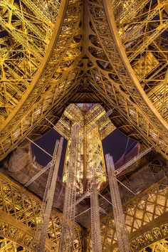 Some of the 7300 tons of iron in the Eiffel Tower.