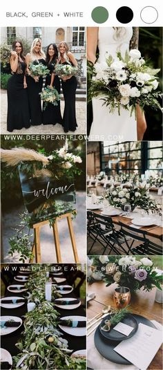 I think that for a spring wedding, green, white and black would be absolutely gorgeous! Green is truly mother nature's favorite color, so it goes with pretty themes spring enchanted forest 36 Black, Green and White Wedding Color Ideas for Spring Wedding Reception Ideas, Black And White Wedding Theme, Green Wedding, Fall Wedding, Wedding Venues, Wedding Planning, Indoor Wedding, Burgundy Wedding, Budget Wedding