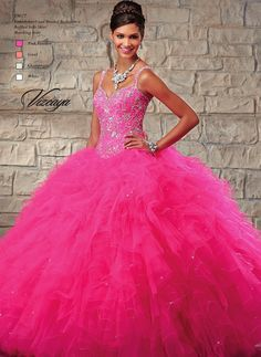 Be the belle of the ball in this beautifully beaded Mori Lee Vizcaya 89027 Quinceanera dress. With its dropped basque waist and tapered tank straps giving way to a diamond keyhole back, this gown is...