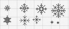 Stelle e stelline a punto croce o a punto scritto