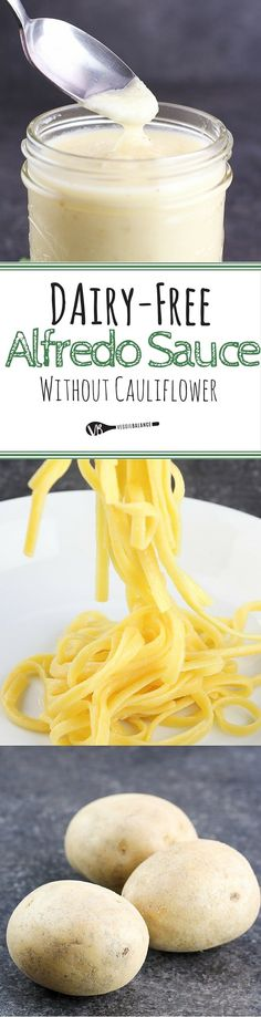 Dairy-Free Alfredo Sauce without Cauliflower - Gluten Free Recipes | Easy Recipes by Veggie Balance