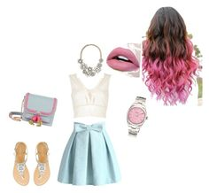 """""""Bez naslova #19"""" by jasminalugavic ❤ liked on Polyvore featuring Chicwish, River Island and Sophia Webster"""