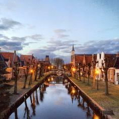 't Diep in Sloten Friesland door Pieter Albada. Februari 2016