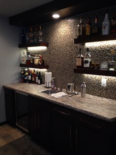 Walk up basement bar