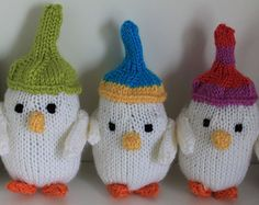 New Handmade Knitted Snowbird Snowmen Christmas Decoration Woolly Hat White Yellow Orange Green Blue Pink Mantle Toppers Christmas Tree - Edit Listing - Etsy