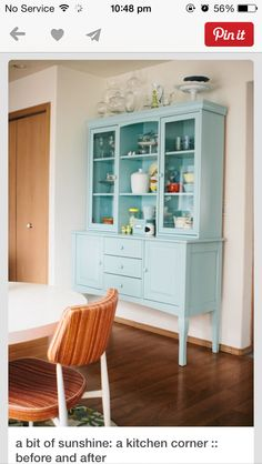 kitchen dresser in turquoise or baby blue?