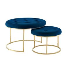 Ottoman Table, Tufted Ottoman, Square Ottoman, Round Ottoman, Nicole Miller, Navy Furniture, Velvet Furniture, Green Ottoman, Royal Blue And Gold