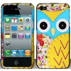Cute Blue Patchwork OWL Hard Snap On Case Cover Faceplate Protector for Apple iPhone 4 4s AT / Verizon / Sprint + Free Texi Gift Box $3.49 amazon