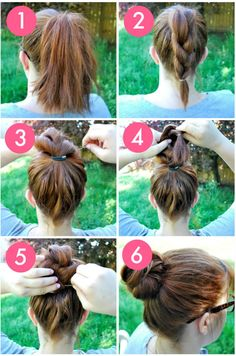 The Knot-So-Braided Bun  #bun #updo #looks #style #hairstyle #DIY #tutorial #hairdo