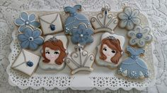 Biscoitos decorados Princesa Sofia by Vanilla Art Cookies