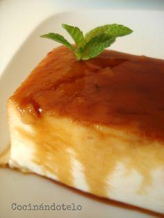 Flan de queso (Sin huevos ni horno)
