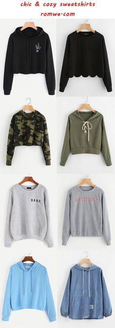 chic sweatshirts 2017 - romwe.com