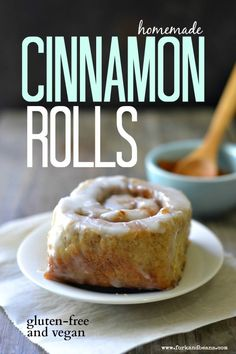 The Best Gluten-free Vegan Cinnamon Roll - Fork Beans