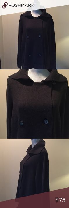 TALBOTS Jacket Blazer Black Double breasted Blazer / Jacket  by Talbots Talbots Jackets & Coats Blazers