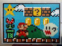 Mario platform pixel art perler beads by kendaljames