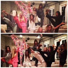 Kourtney at Khloe's pajama birthday party