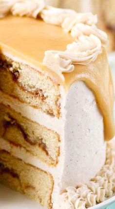 Snickerdoodle Caramel Layer Cake ❊