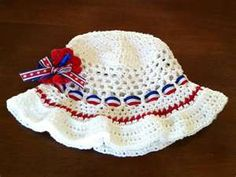 Image detail for -Red White 'n Blue Sun Hat   Romaz Attic - Crocheted items and other ...