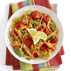 Boodschappen - Spaghetti met tomaatjes en makreel
