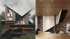 Natural Scenery, Villa, Mansions, House Styles, Iran, Cabin, Design, Home Decor, Decoration Home
