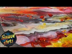 Acrylic Fluid Painting: Dirty Pour flip cup EXPLAINED - YouTube